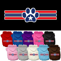 Basic Dog Hoodie (Screen Print) - Patriotic Paw with Star