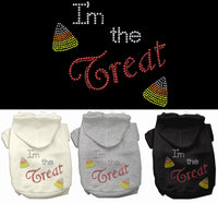 Basic Dog Hoodie (Rhinestone) - Halloween I'm the Treat