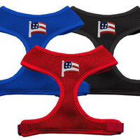 Basic Soft Dog Harness - Chipper Patriotic American Flag