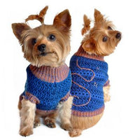 Blue and Beige Starry Night Dog Sweater - FurMinded