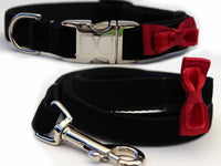 Bow Tie Red Dog Collar and Leash Set - FurMinded