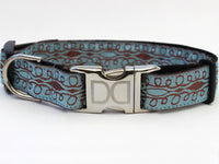 Calligraphy Blue Dog Collar - FurMinded