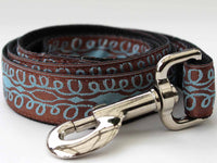 Calligraphy Brown Dog Leash - FurMinded