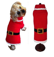 Dog Sweater - Holiday Santa Paws Dog Sweater - FurMinded