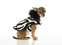 Designer Dog Coat - Faux Fur Animal Print Zebra - FurMinded