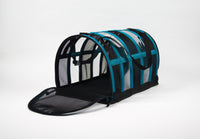 Designer Pet Carrier - Solid Teal Blue - FurMinded