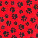 Dog Bandana Paws Black - FurMinded