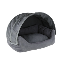 Dog Bed - Comfort Cave Grey Fleece - FurMinded