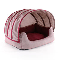 Dog Bed - Comfort Cave Red Fleece - FurMinded