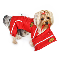 Dog Raincoat - Klippo Dog Raincoat with Reflective Stripes & Matching Pouch - FurMinded