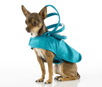 Dog Raincoat - Solid Teal Blue - FurMinded