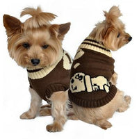 Designer Dog Sweater - Dreaming in Brown - FurMinded