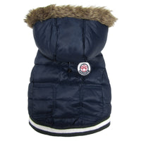 Dog Coat - foufoudog Expedition Dog Parka in Navy Blue - FurMinded