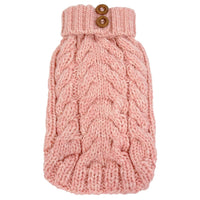 Dog Sweater - foufoudog Hand-Knit Cityscape Dog Sweater in Pink - FurMinded