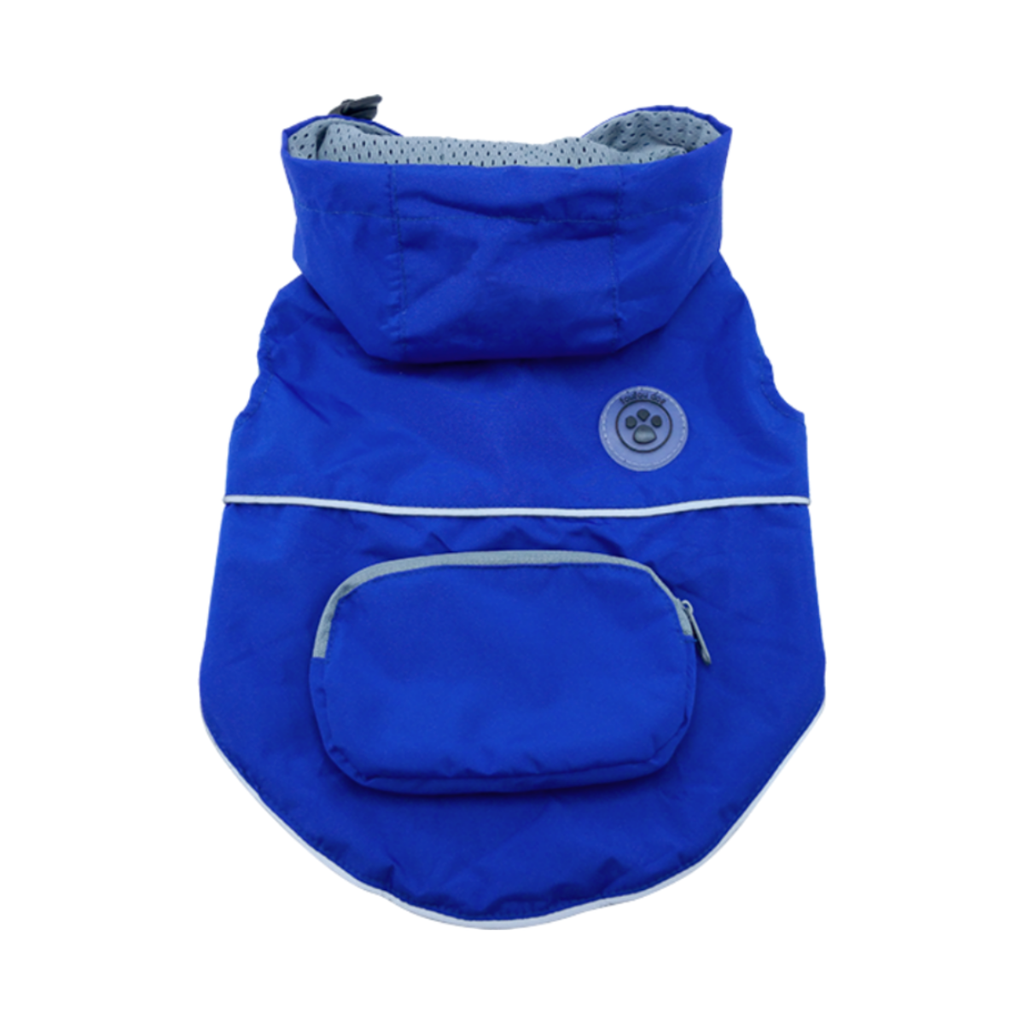 Dog Raincoat - foufoudog Rainy Day Dog Raincoat with Travel Pouch in Indigo - FurMinded