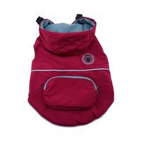 Dog Raincoat - foufoudog Rainy Day Dog Raincoat with Travel Pouch in Burgundy - FurMinded