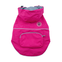 Dog Raincoat - foufoudog Rainy Day Dog Raincoat with Travel Pouch in Pink - FurMinded