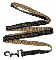 New Orleans Saints Dog Leash - Ribbon - FurMinded