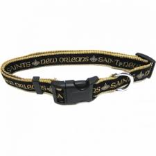 New Orleans Saints Dog Collar - Ribbon - FurMinded