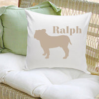 Personalized Dog Throw Pillow - Dog Silhouette in Classic