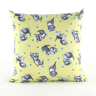 Cute Kittens Yellow Throw Pillow - FurMinded