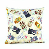 Hungry Cats Throw Pillow - FurMinded