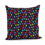 Rainbow Paws Throw Pillow - FurMinded