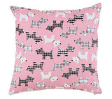 Pink Puppies Throw Pillow - FurMinded