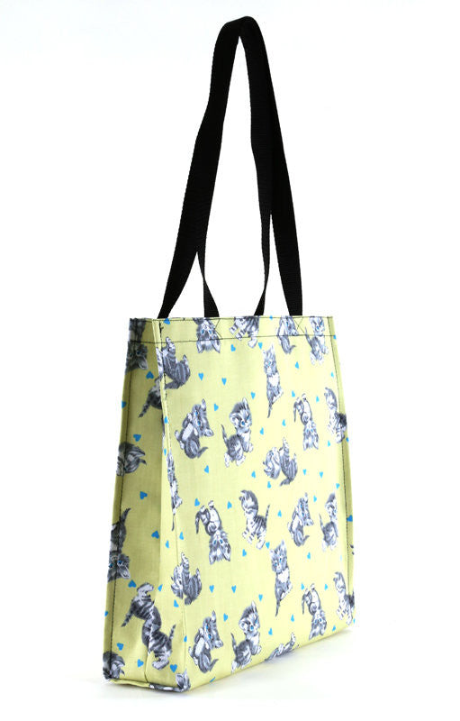 Cute Kittens Yellow Tote Bag - FurMinded