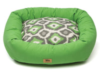 West Paw - Bumper Pet Bed w/Cotton (Ikat - Emerald with Emerald)