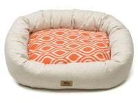 West Paw - Bumper Pet Bed w/Cotton (Groove - Sunset with Linen)