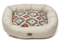 West Paw - Bumper Pet Bed w/Cotton (Linen/Sunset Ikat)