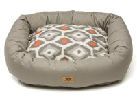 West Paw - Bumper Pet Bed w/Cotton (Walnut/Sunset Ikat)