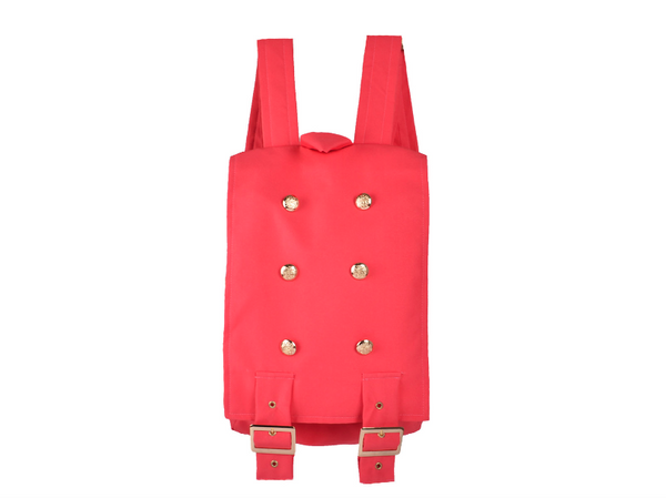 Handmade Pink Backpack  | Mochila Clásica Color Rosa Coral