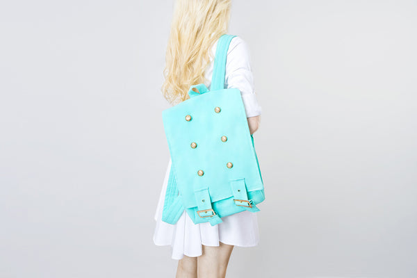 Handmade Tiffany Backpack  | Mochila Clásica Color Tiffany