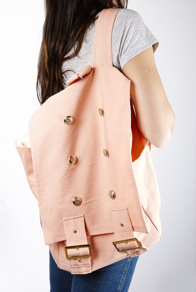 Handmade Light Pink Backpack  | Mochila Clásica Color Rosa Melón