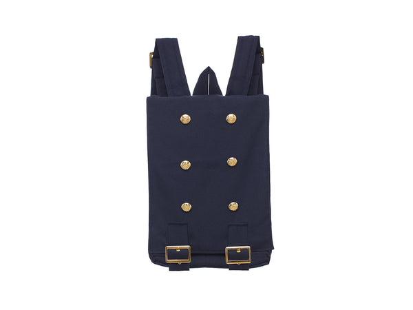 Handmade Navy Blue Backpack  | Mochila Clásica Color Azul Marino