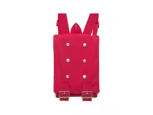 Handmade Cherry Red Backpack  | Mochila Clásica Color Rojo