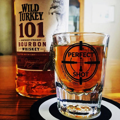 Perfect Shot Glass with Bourbon