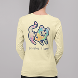 Butter Watercolor Long Sleeve Tee