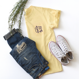 Yellow Short Sleeve Pocket Tee