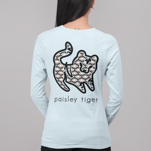 Chambray and Rose Tribal Long Sleeve Tee