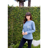 Blue Jean Long Sleeve Pocket Tee