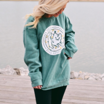 Light Green Logo Crewneck Sweatshirt