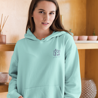 Mint Embroidered Hoodie