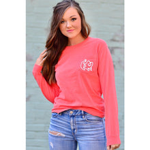 Bright Salmon Long Sleeve Pocket Tee