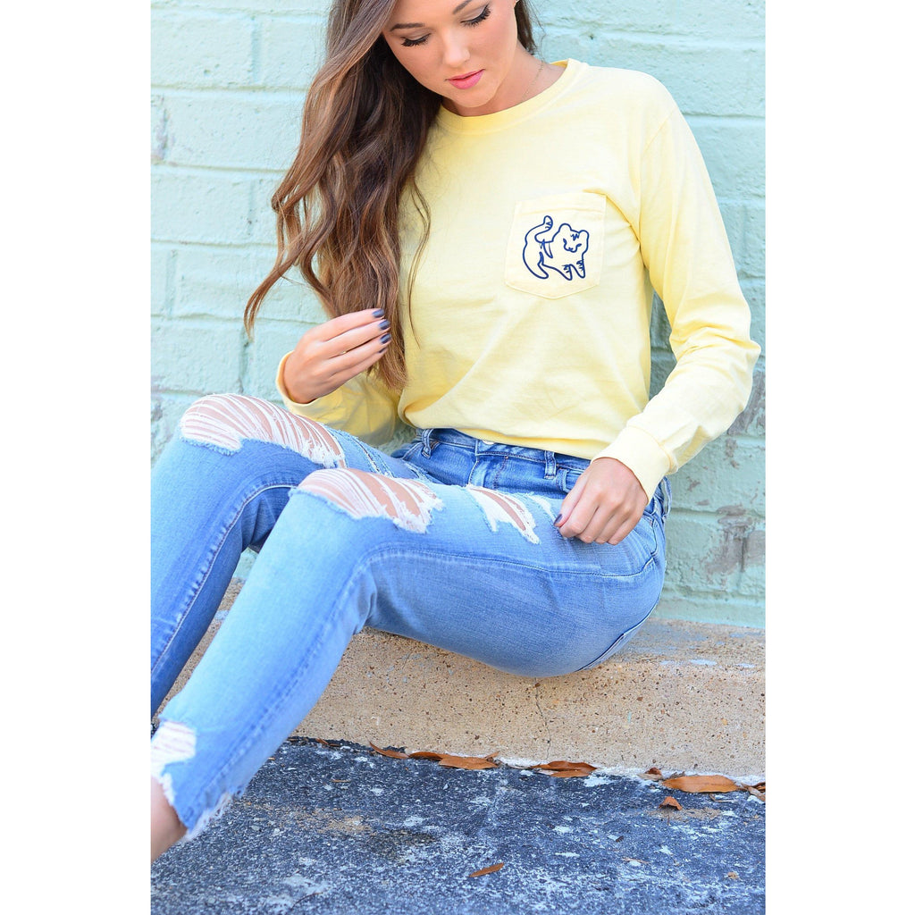 Butter Long Sleeve Pocket Tee