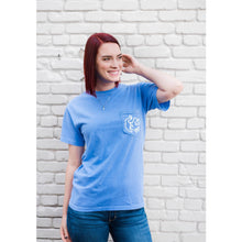 Flo Blue Short Sleeve Pocket Tee