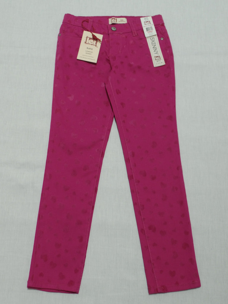 Girls L.E.I Lowrise Skinny Jeans (Long) Adj. Waist - 98% Cotton, 2% Spandex: Sizes 7,8, 10, 12