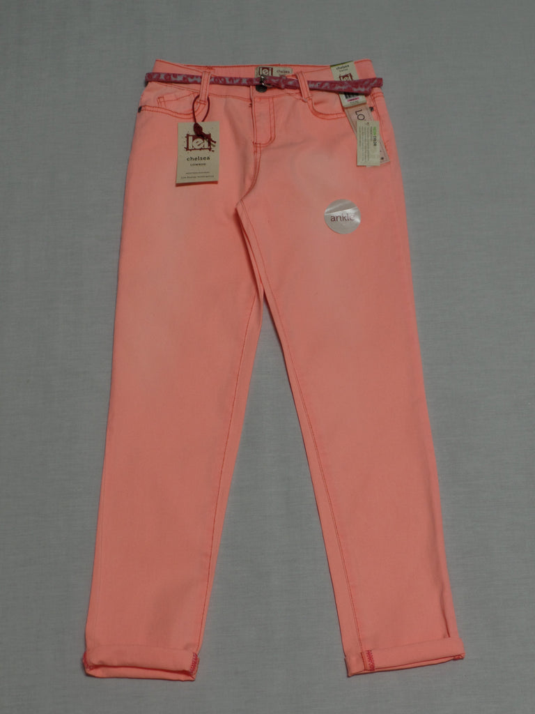 L.E.I. Lowrise Ankle Pants with belt (Adj. Waist) 98% Cotton, 2% Spandex: Sizes 12, 14, 16